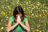 Child with allergy, hayfever or cold — Stock Photo