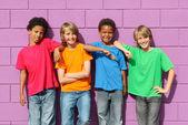 Zróżnicowane dzieci — Zdjęcie stockowe