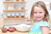 Child or kid cooking — Stock Photo