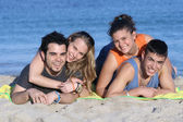 Young couples on vacation — Stock Photo
