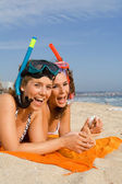 Happy teens on vacation — Stock Photo