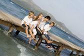 Happy family summer vacation — Stock Photo