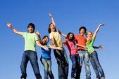 Diversity ,group of mixed race kids — Stock Photo