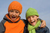 Happy healthy kids — Stock Photo