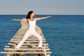 Tai chi woman — Stock Photo