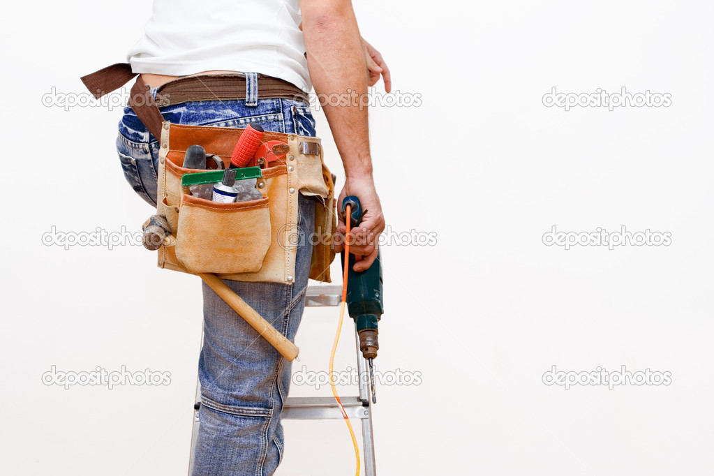 Workman with tools — Stock Photo #6361608
