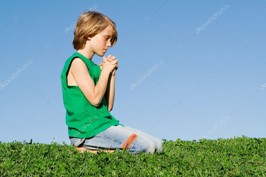 Christian child praying — Stock Photo #6361844