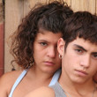 Spanish hispanic rebellious teens - Stock Photo