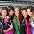 Diverse group of teens girls - Stock Photo