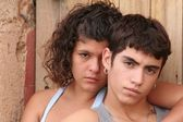 Spanish hispanic rebellious teens — Stock Photo