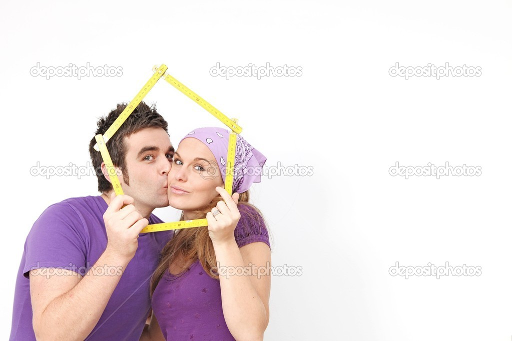 Concept for couple buying or renting new home or house  Stock Photo #6409168