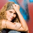Beautiful happy teen or young adult with long blonde, curly hair. — Stock Photo #6469758