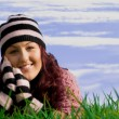 Happy healthy smiling young woman — Stock Photo #6469773