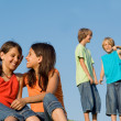 Group of kids at summer school or camp — Foto Stock