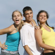 Group of mixed race kids, teens, or students, — Stock Photo