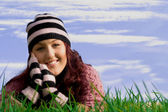 Happy healthy smiling young woman — Stock Photo