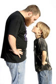 Father and son confrontation — Stockfoto