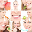 Teeth, poster showing dental health for dentist surgery - Stock Photo