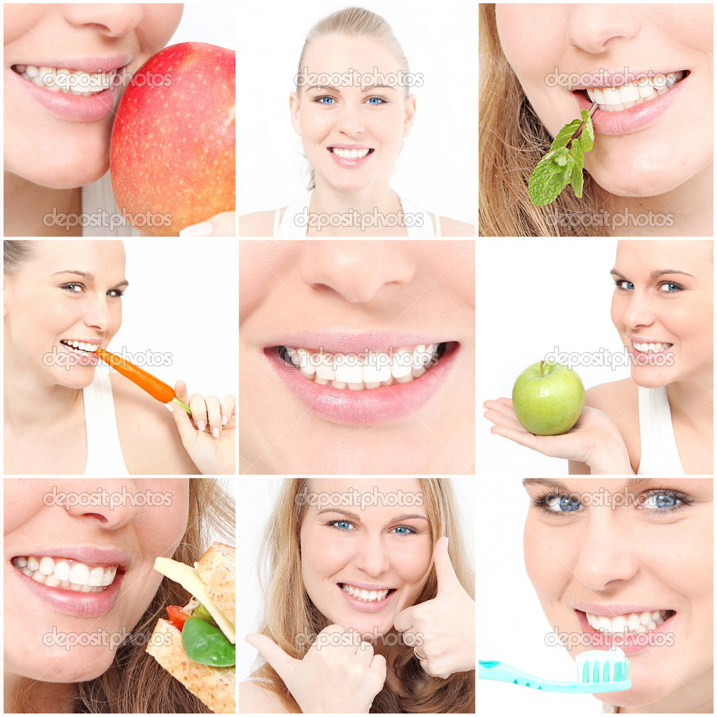Teeth, poster showing dental health for dentist surgery  Stock Photo #6555104