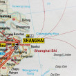 Map of China Shanghai city — Stock Photo