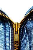 Zipper ( Jeans shirt ) — Stock Photo