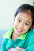 Closeup cute young girl — Stock Photo