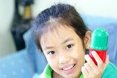 Vacker ung student tjej — Stockfoto
