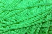 Green ball of yarn — Stock Photo