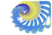 Fondo azul resumen espiral — Vector de stock