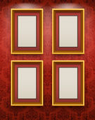 Wooden frames on the wal — Stock Vector