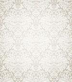 ダマスク織のシームレスな花柄 — ストックベクタ