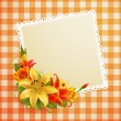 Royalty-Free Stock ベクターイメージ: Vintage greeting card with flowers