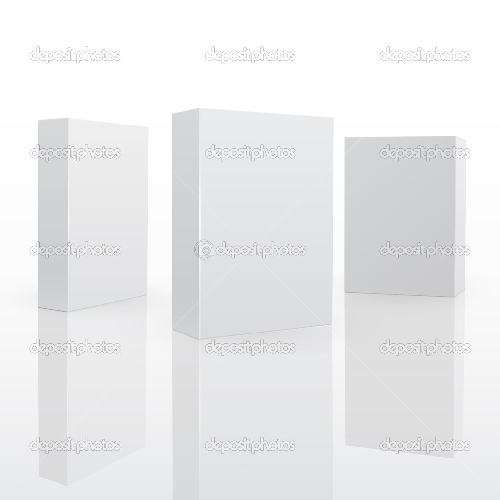 Blank pack fo software or other product. 3d vector illuctration — Vettoriali Stock  #5780581