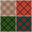 Royalty-Free Stock Vektorfiler: Tartan seamless pattern