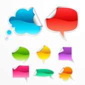Set of colorful bubbles for speech — Vecteur