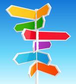 方向的路标 — 图库矢量图片