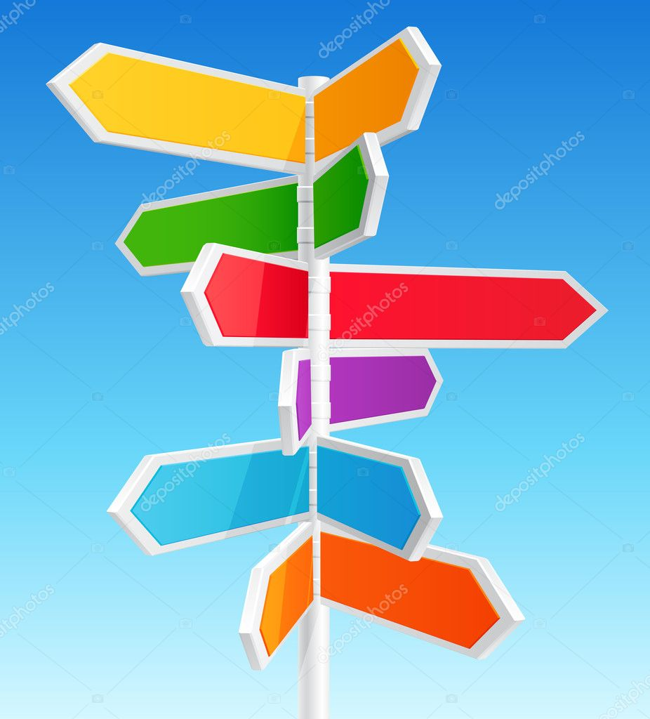 Direction road signs  — Imagen vectorial #5995401