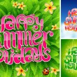 Happy summer holiday - Imagen vectorial