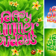 Happy summer holiday - Image vectorielle