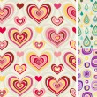 Set of retro seamless patterns — Stok Vektör