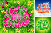 Happy summer holiday — Vector de stock