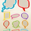 Set of colorful bubbles for speech — Stock Vector