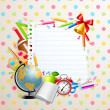Royalty-Free Stock Vector Image: Back to school greeting card with stationery