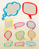 Set of colorful bubbles for speech — Vector de stock