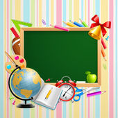 Back to school background with place — Stock Vector