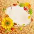 Royalty-Free Stock Vector Image: Autumn vintage greeting card