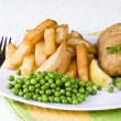 Fish and chips — Stockfoto
