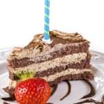 Birthday tiramisu — Stock Photo #6063106