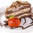 Tiramisu cakewith strawberry — Stock Photo