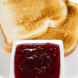 Stock Photo: Toasts and jam